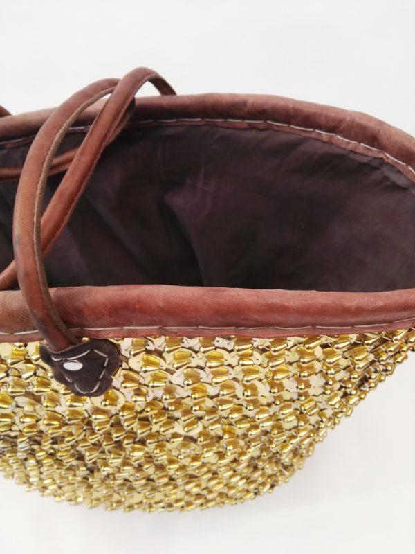 Moroccan Basket Bag gold 3