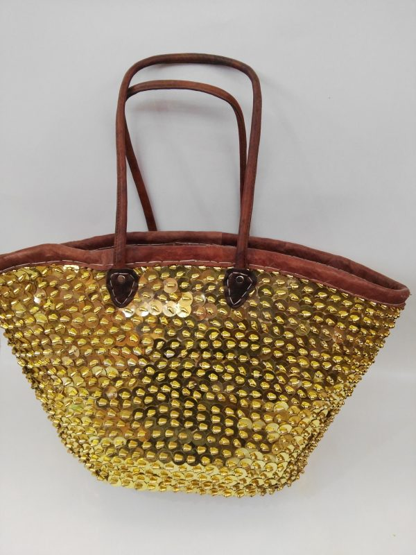 Moroccan Basket Bag gold 2