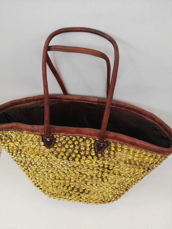 Moroccan Basket Bag gold 1