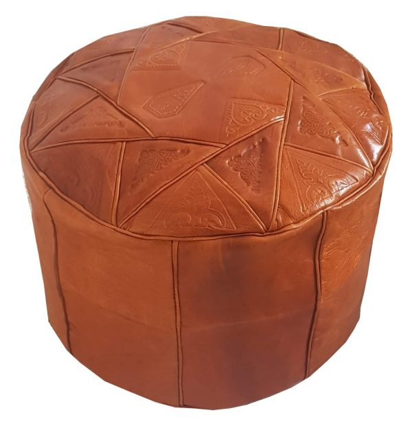 Moroccan-Leather-Pouf-Brown-2