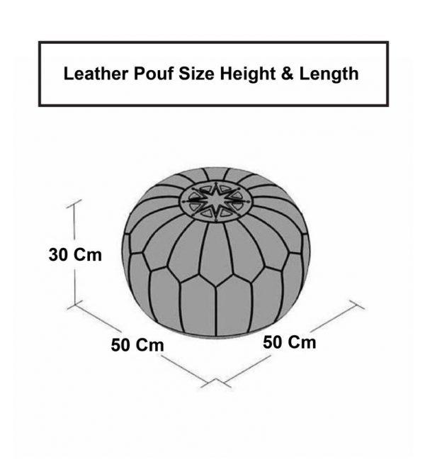 size ottoman pouf