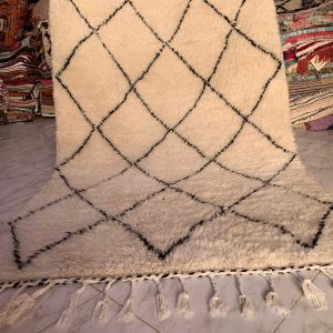 original beni ourain rug white and black