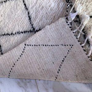 original moroccan beni ourain rug