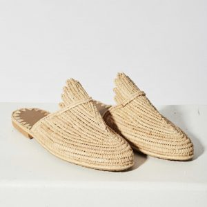 raffia shoes women's