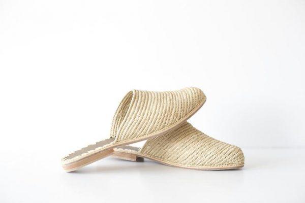 Handmade Raffia Mules