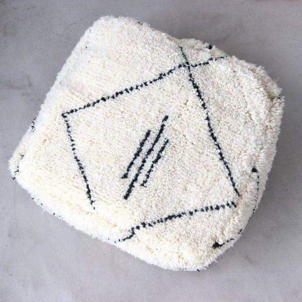 square white pouf