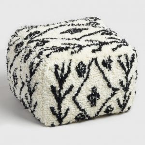 Cube beni ourain pouf moroccan