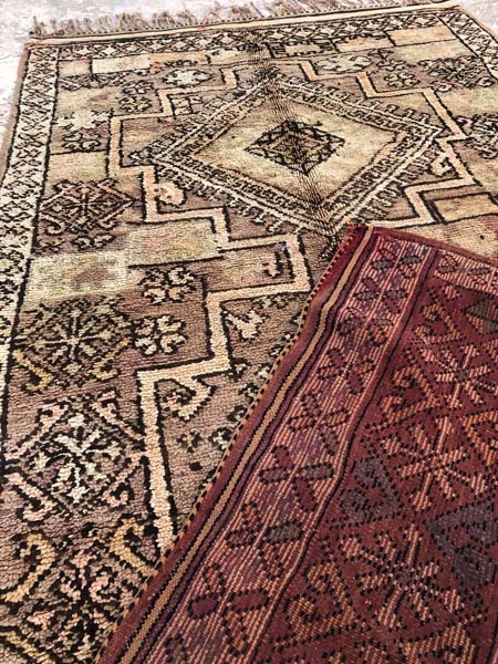 vintage style rugs morocco