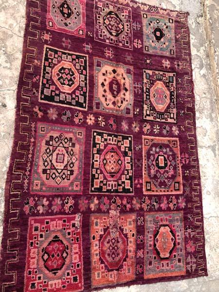 purple vintage moroccan carpet