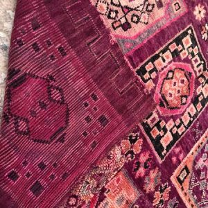 purple vintage moroccan carpet