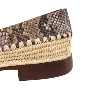 raffia shoes snake leather