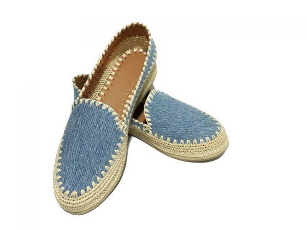 moroccan jeans raffia shoes