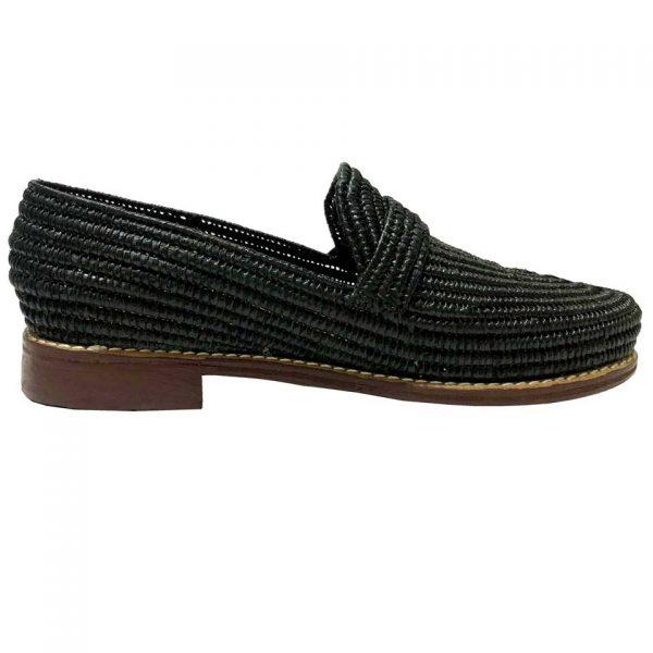 raffia loafers