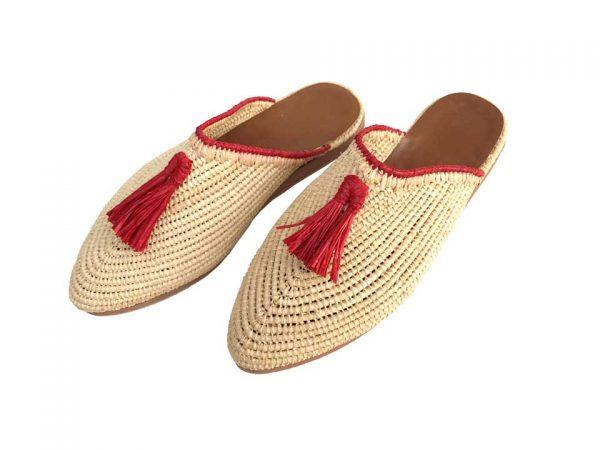 raffia nature shoes