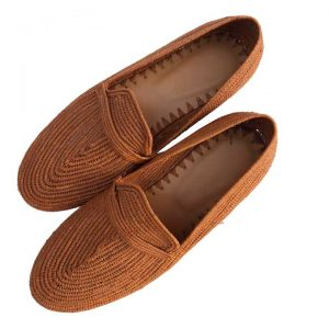 brown raffia shoes