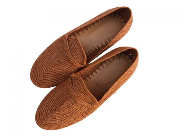brown raffia shoes