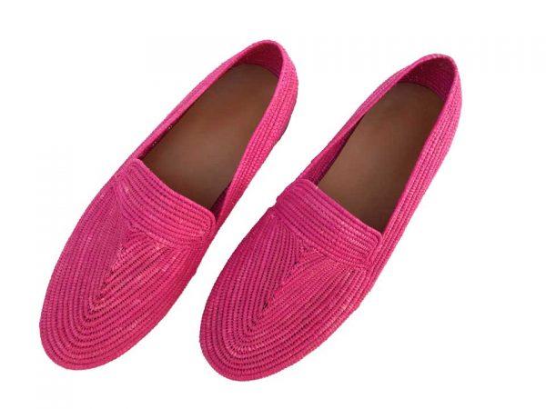 pink raffia shoes men