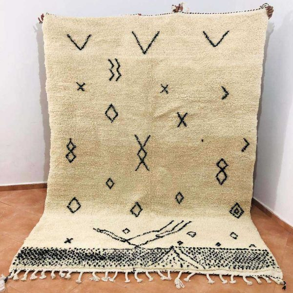 azilal rugs white black