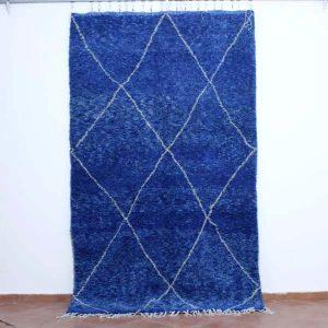 blue beni ourain rug