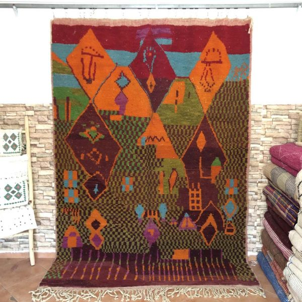 brown vintage rugs